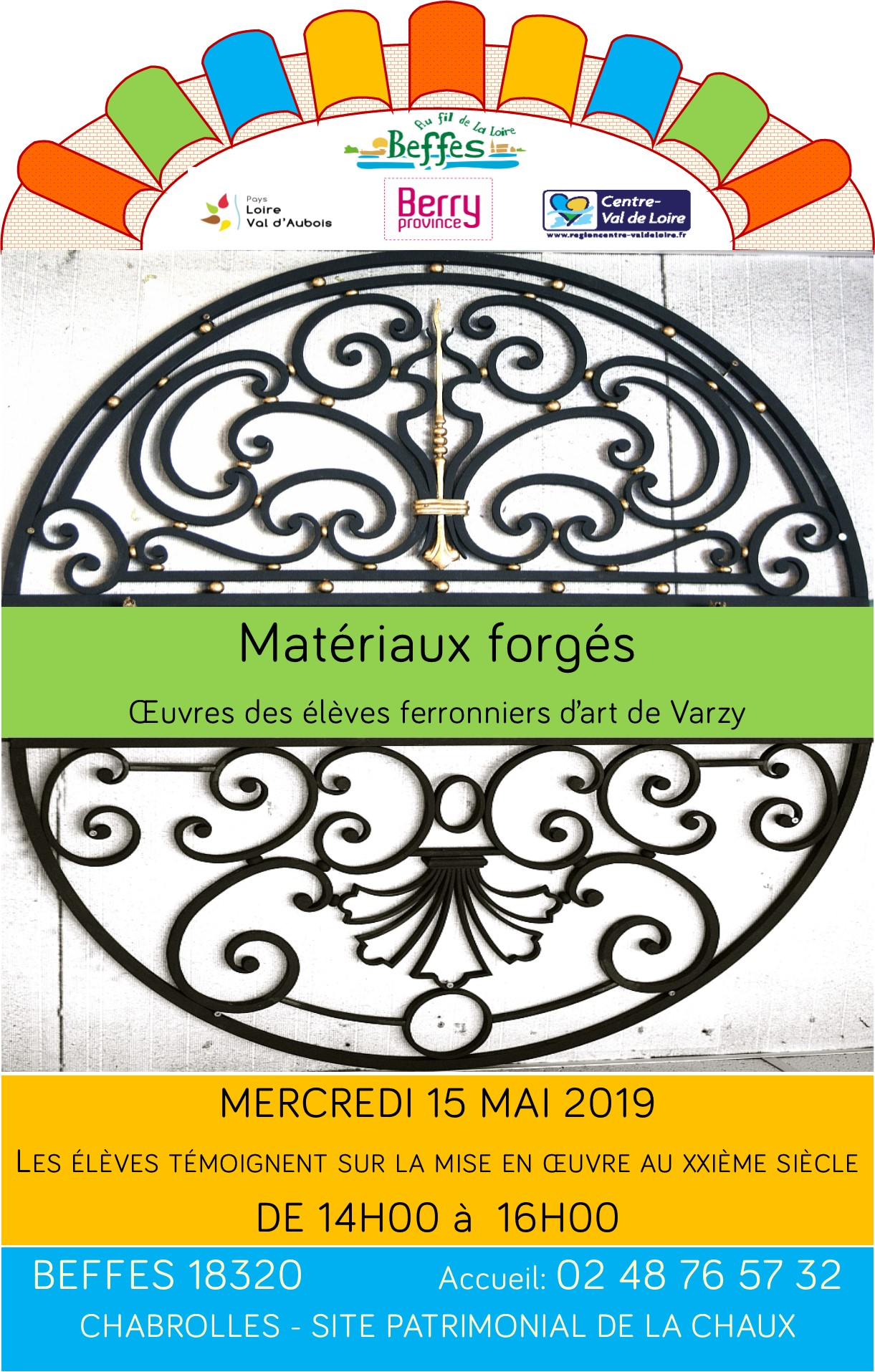Affiche materiaux forges