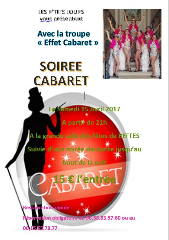 Flyer soiree cabaret