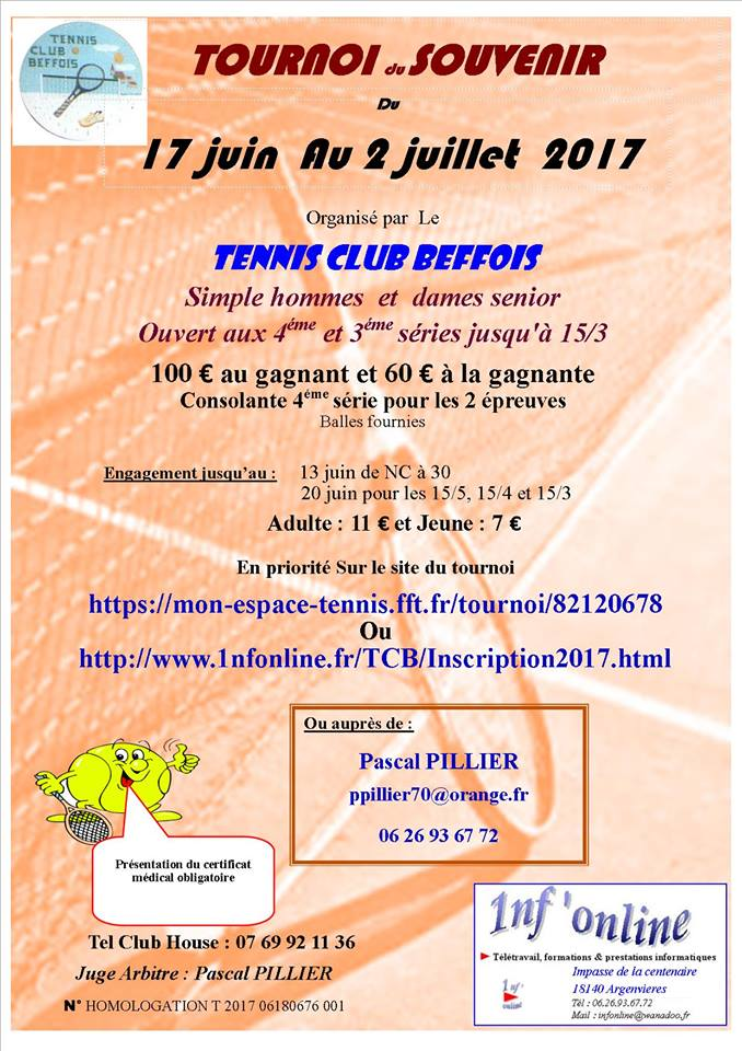 Tournoi tennis club beffois