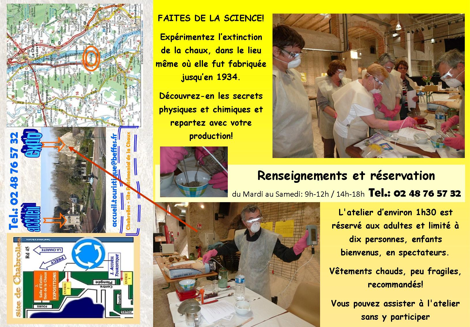Verso affiche flyer atelier